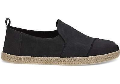 1fd5eafdd06 TOMS Deconstructed Alpargata Rope Men s Vegan Black Washed Canvas  Espadrilles