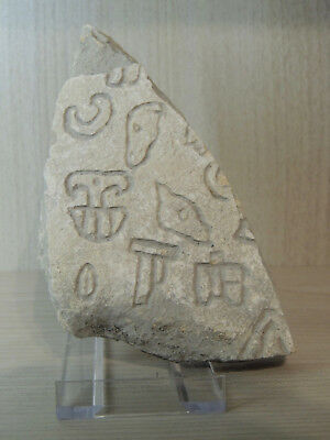 Antique Stone Tablet Fragment With Graffiti