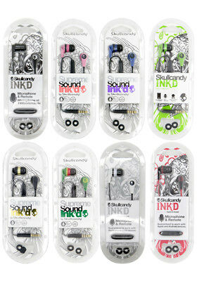 New Authentic Skullcandy Ink'D 2.0 Earbuds with Microphone and Remote