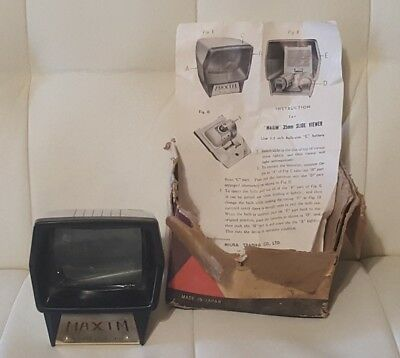 Vintage Maxim Color Slide Viewer Orig Box and Instructions