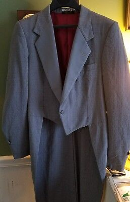 Vintage Pierre Cardin Couture Tux Coat with Long Tails. Marked as 39L