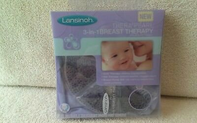 Lansinoh thera pearl 3 in 1 breast hot or cold therapy pack w/covers   2 pk.