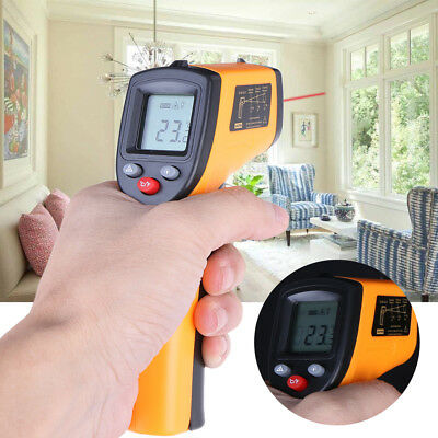 Infrared Digital Temperature Thermometer Gun Non Contact LCD IR Laser Portable