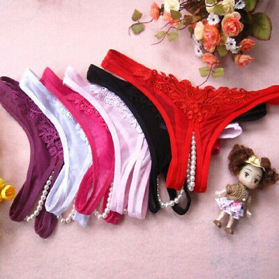 Sexy Lady Lingerie G-string Knickers Underwear Open Crotch Hollow Thongs Briefs