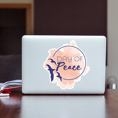 Day of peace Dove Vinyl Stickers | Wall Art Window, Car, Laptop Macbook Decal