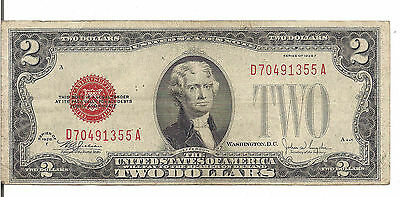 Us, $2, Red Seal,1928 F