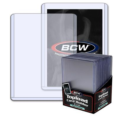 100 Bcw Thick 2mm Baseball Trading Card Holder 79pt.