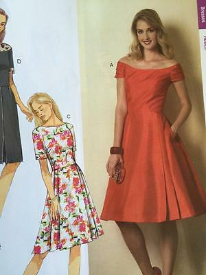 BUTTERICK SEWING PATTERN 6129 Ladies Misses Dress Size 14-22 New ...