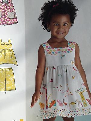 NEW LOOK Sewing Pattern 6441 Girls Dresses Tops Size 1/2-4 New ...
