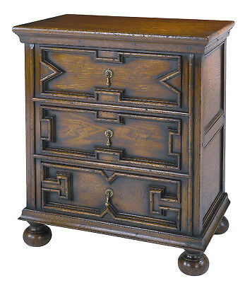 Handmade Small Chest/Side Table, English, Ca 20th Century