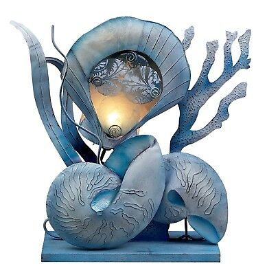 Gorgeous Seashell Sea Shell Table Lamp Light Home Decor Accent Brand New 16014