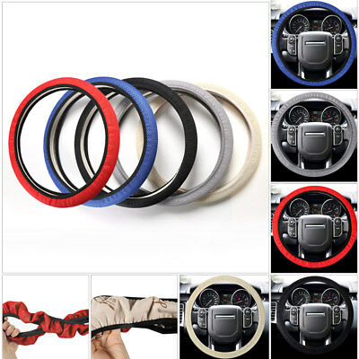 Breathable 14'' 15'' 38cm Car Auto Mesh Steering Wheel Cover Cooling Anti-slip