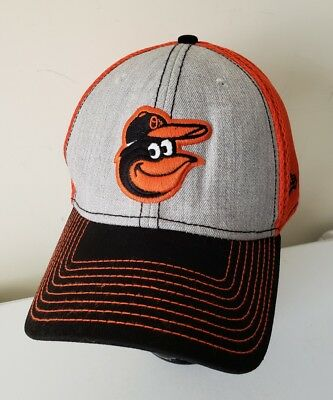 ca6970be196 Baltimore Orioles New Era Mesh Old Bird Logo Embroidered 3930 Hat Cap  Vintage