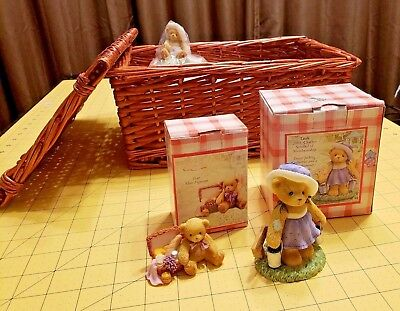 2003 Cherished Teddies Leah CT109 Purple Dress Charter Club Kit w 111576 Lowell
