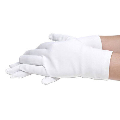 Kid Gloves White Short Satin Feel Boy Hold Flower Girl's Performance Dance Glove