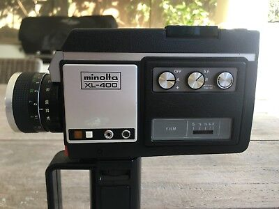 Minolta XL400 Super 8 movie camera