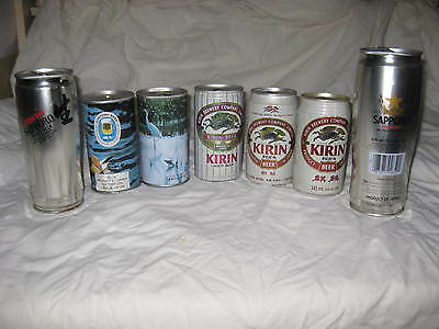 Japanese beer cans