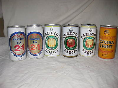 Carlton Light beer cans