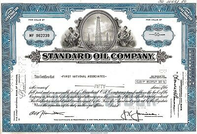 Standard Oil Company, New Jersey, 1972 (50 Shares)