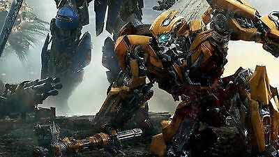 Bumblebee transformers the last knight Silk Poster/Wallpaper 24 X 13 inches