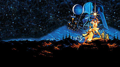 Star Wars Episode IV A New Hope Darth Vader Silk Poster/Wallpaper 24 X 13 inches