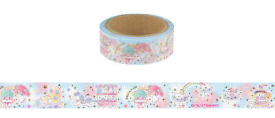 "Sanrio Little Twin Stars 1.5 cm Paper Deco Tape (Gold-Coloured Accents) (""Shop"")"