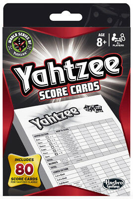 HASBRO Yahtzee Score Cards Ages 8+ Keep Track Of Every Lucky YAHTZEE Roll 1 Game