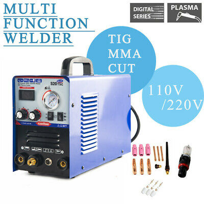 NEW 110V/220V 520TSC plasma cutter tig/mma welder 3in1 welding machine