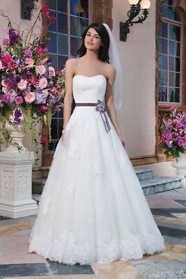 Justin Alexander Sincerity Bridal Ball Gown Lace 3832 Wedding Dress Size Us 16