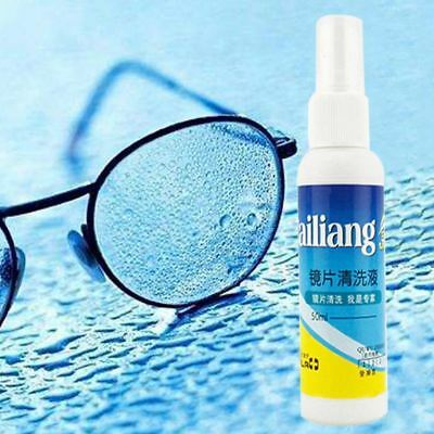 50ML Lens Cleaner Glasses Sunglasses Eyeglass Cleaning Solution Spray Bottle