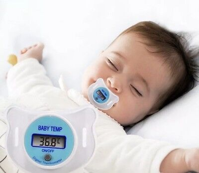 Baby Care Infant Baby Digital Dummy Pacifier Thermometer Soother Nipple Safe