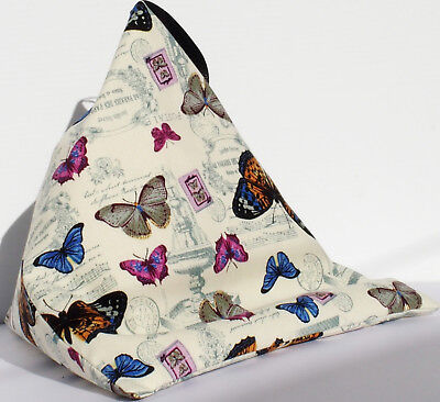 BUTTERFLIES d Resting pillow for iPad Tablet or book Cushion bean bag beanbag