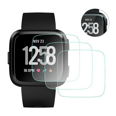 3PC Tempered Glass Screen Protector Film Guard For Fitbit Versa Protective Cover