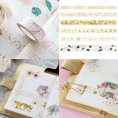 2018 Pink Foil Paper Washi Tape Kawaii Stationery Scrapbooking Decorative Tapes
