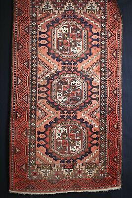 Antiker Teppich-Antique rug Belutsch Tekke Adil Besim Sammler 162x88 cm washed