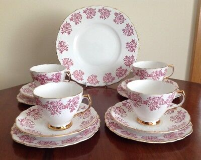 Royal Vale Vintage Bone China England Afternoon Tea Pretty Pink Chintz