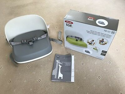 bd16faef0b6e Oxo Tot Perch Booster Seat With Straps, Grey, Used One Weekend At  Grandparents.
