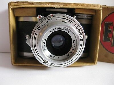 Vintage Eljy Lumiere Subminiature  Lypar F3.5 40Mm In Original Box 1951 Type 7