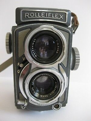 Lovely Rolleiflex Baby Grey F2.8 in Case with Lens Hood - SN 5516875