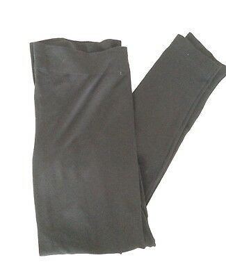 [379] New Look Maternity Black Footless Tights Size L (16-18)