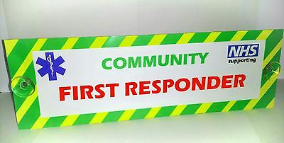 Ambulance Community First Responder Sign charity sale