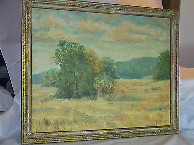 "*Helenka* Antique Original Oil On Board Impressionist Plein Air""Large"" Painting"