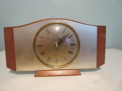 VINTAGE 1960s  ART DECO MANTEL CLOCK