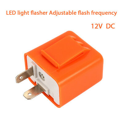 Flasher Relay Hyper Flash Relay Durable 2Pin DC12V Adjustable Fix Flash