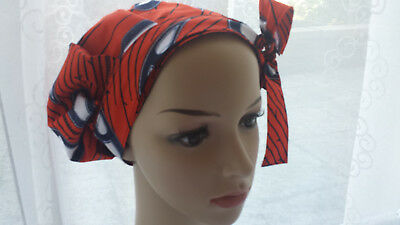 SATIN LINED SLEEP HAT  ,BONNET,SCRUB HAT WITH ankara- FREE SHIPPING