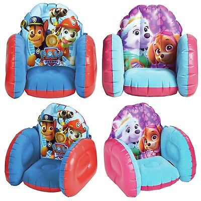 Young Kids Children's Inflatable Flocked Chair Character Print Soft & Cosy Sofa
