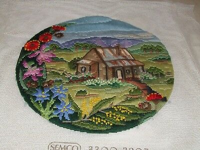 Long Stitch - House and Flowers - Completed