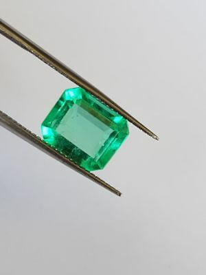 2.76 Cts Natural Colombian Emerald Green- Transparent Muzo
