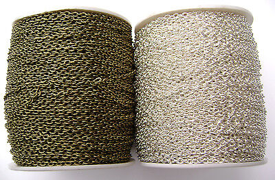 BULK Chain Cable Gold Silver Copper Brass Gunmetal MANY COLORS BIG 318 ft SPOOL