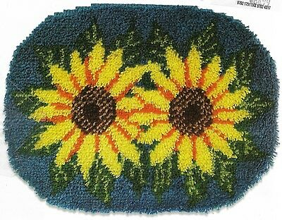 Sunflower Garden-New Latch Hook Rug Or Wall Hanging Kit - 51Cm X 69Cm Sale